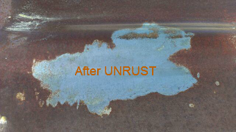 This is a test area on the rusted 1957 Chevy in the picture above.